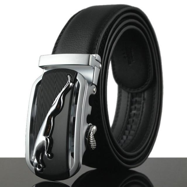 Fashion Designers Men Automatic Buckle Leather Luxury Belt-E-110cm-JadeMoghul Inc.