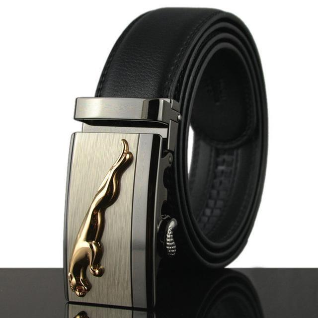 Fashion Designers Men Automatic Buckle Leather Luxury Belt-F-110cm-JadeMoghul Inc.