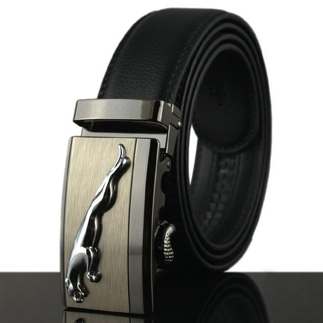 Fashion Designers Men Automatic Buckle Leather Luxury Belt-G-110cm-JadeMoghul Inc.