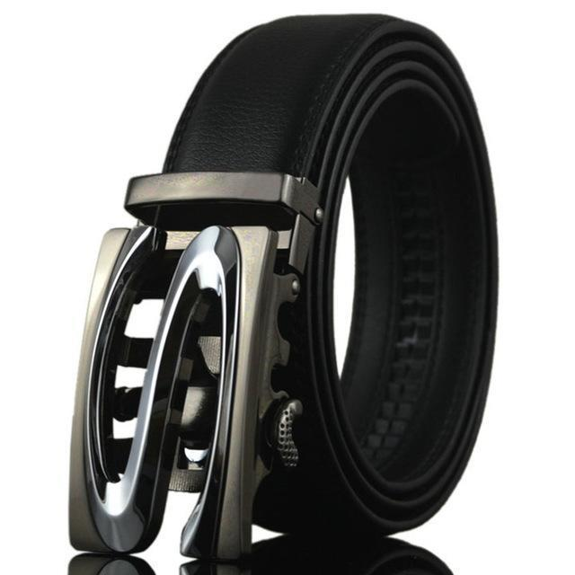 Fashion Designers Men Automatic Buckle Leather Luxury Belt-K-110cm-JadeMoghul Inc.