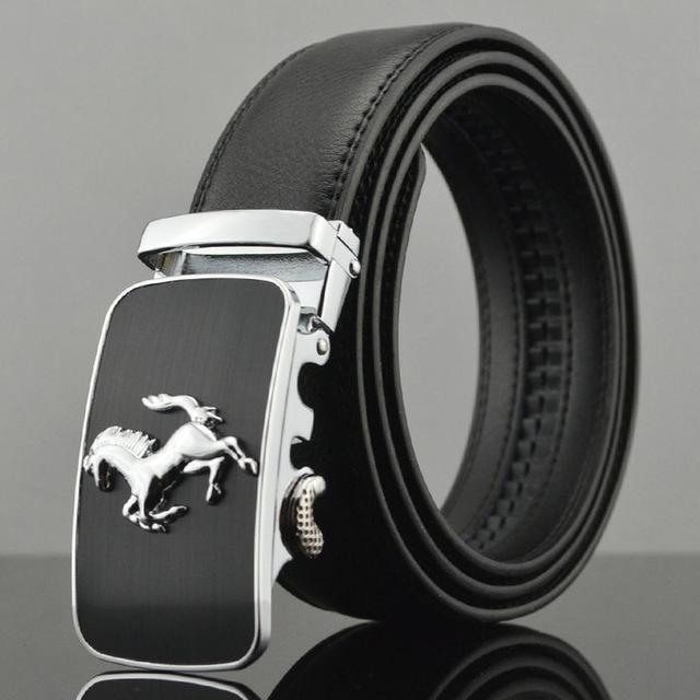 Fashion Designers Men Automatic Buckle Leather Luxury Belt-M-110cm-JadeMoghul Inc.