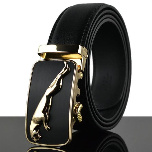 Fashion Designers Men Automatic Buckle Leather Luxury Belt-N-110cm-JadeMoghul Inc.
