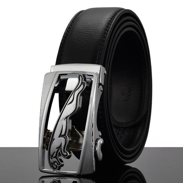 Fashion Designers Men Automatic Buckle Leather Luxury Belt-Q-110cm-JadeMoghul Inc.