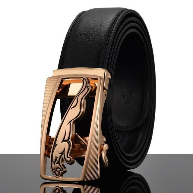 Fashion Designers Men Automatic Buckle Leather Luxury Belt-R-110cm-JadeMoghul Inc.