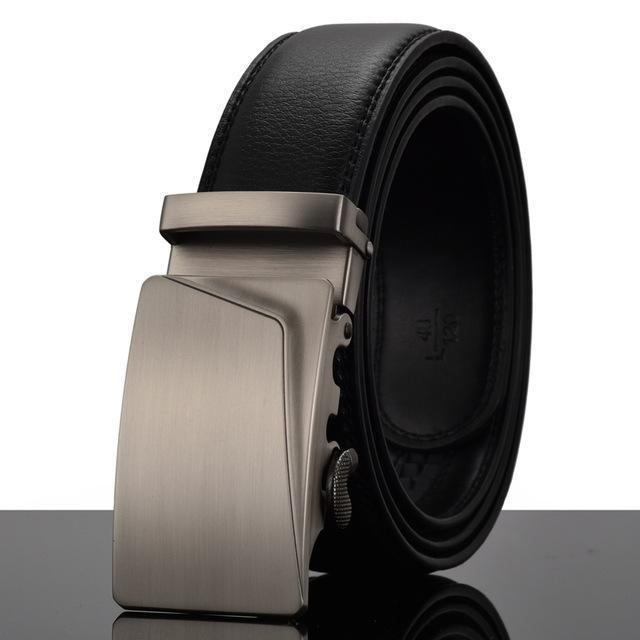 Fashion Designers Men Automatic Buckle Leather Luxury Belt-V-110cm-JadeMoghul Inc.