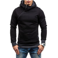Fashion Hoodie For Men / Solid Zipper Hoodie-Black and red-M-JadeMoghul Inc.