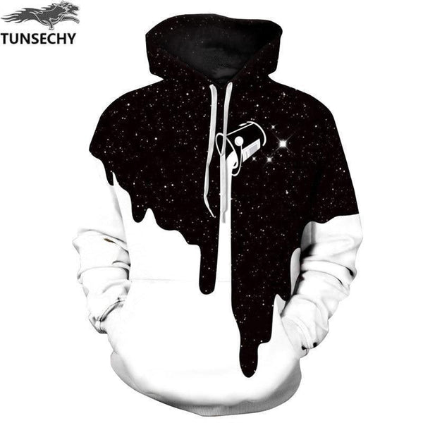 Colorful Crayon T-Shirt Hooded with A Pocket Rope Hat Customization Fashion Novelty 3D Mens