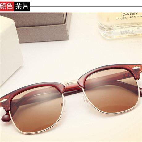 Fashion New Cat Eye Women Sunglasses With Vintage HD Lens Brand Designer Glasses Men Oculos de sol High Quality UV400-brown-JadeMoghul Inc.