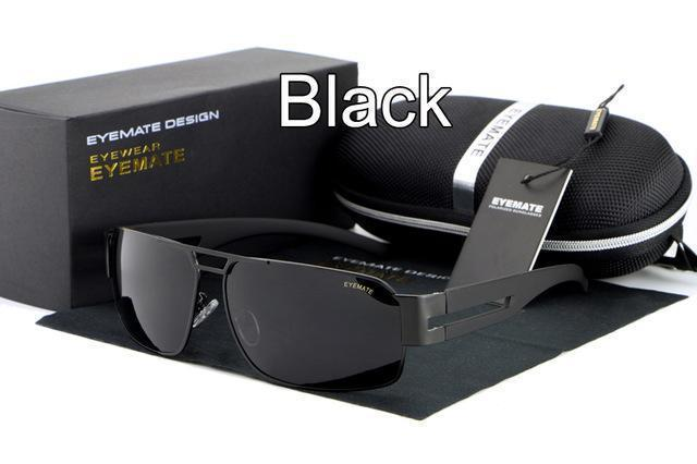 Fashion Polarized Driving Men Sunglasses UV400 Brand Design Rectangle Eyewear with High Quality Oculos Free Shipping-black-JadeMoghul Inc.