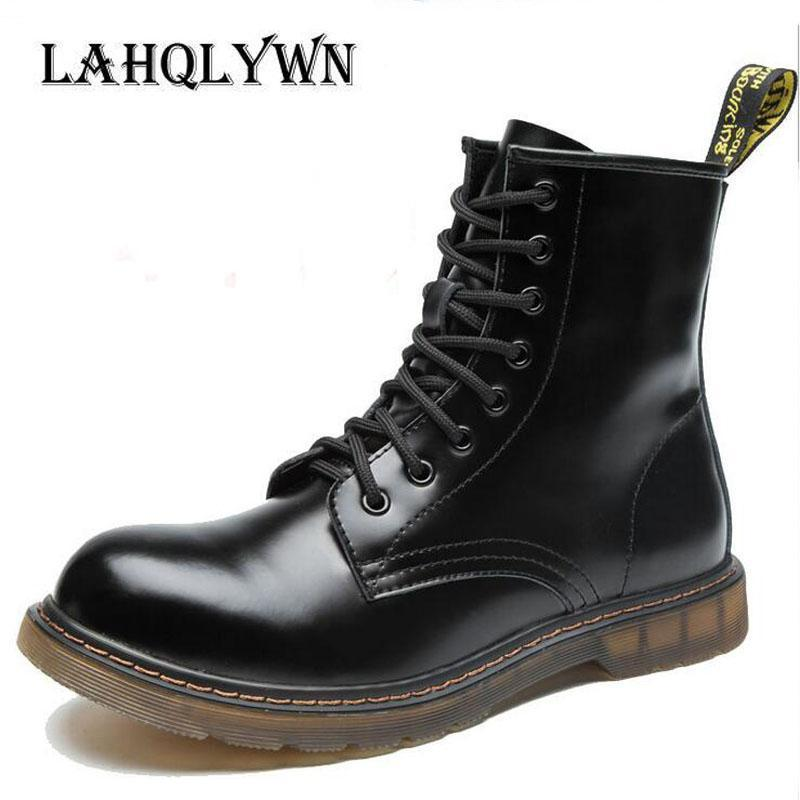Fashionable Ankle Boots / Men High Ankle Boots-Black-11-JadeMoghul Inc.