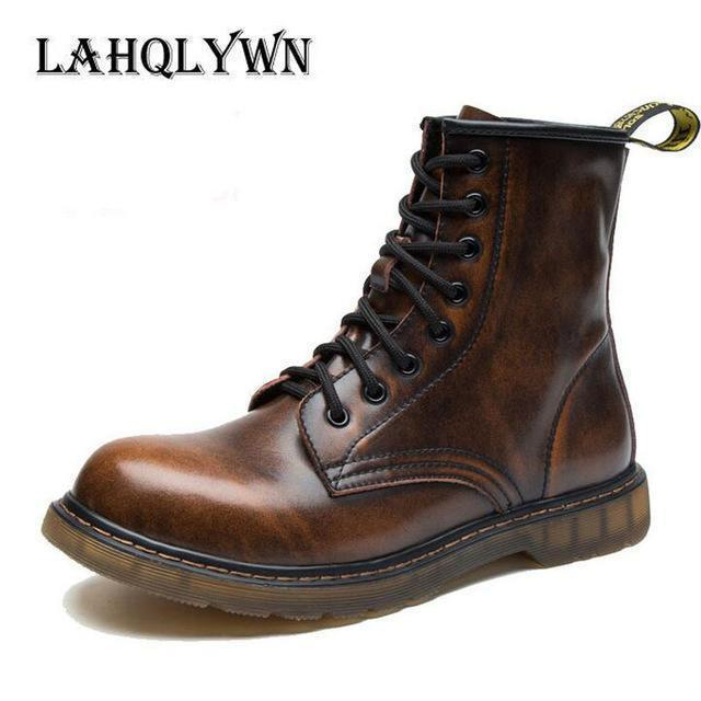 Fashionable Ankle Boots / Men High Ankle Boots-Brown-11-JadeMoghul Inc.