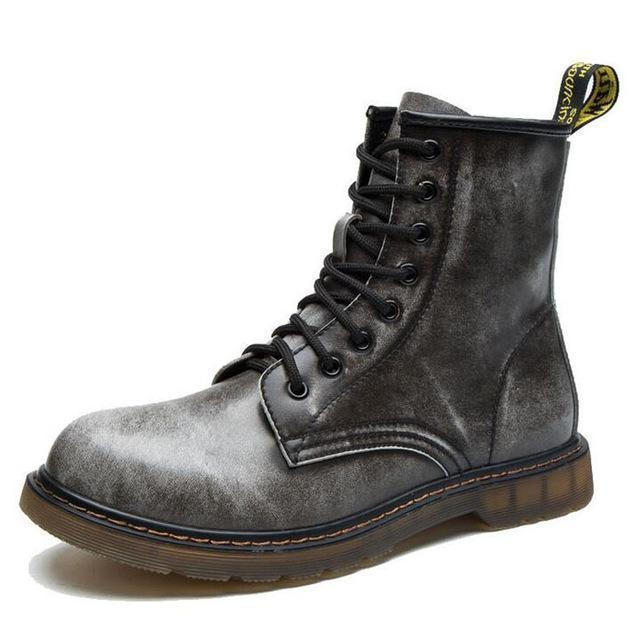 Fashionable Ankle Boots / Men High Ankle Boots-Gray-11-JadeMoghul Inc.
