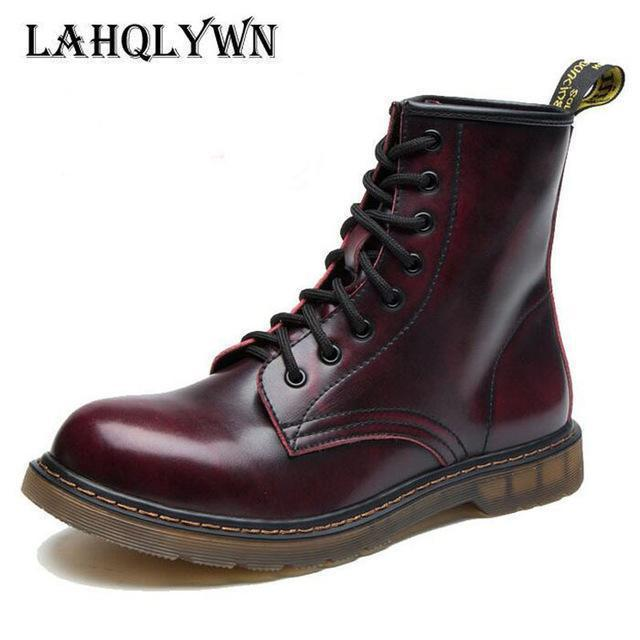 Fashionable Ankle Boots / Men High Ankle Boots-Wine Red-11-JadeMoghul Inc.