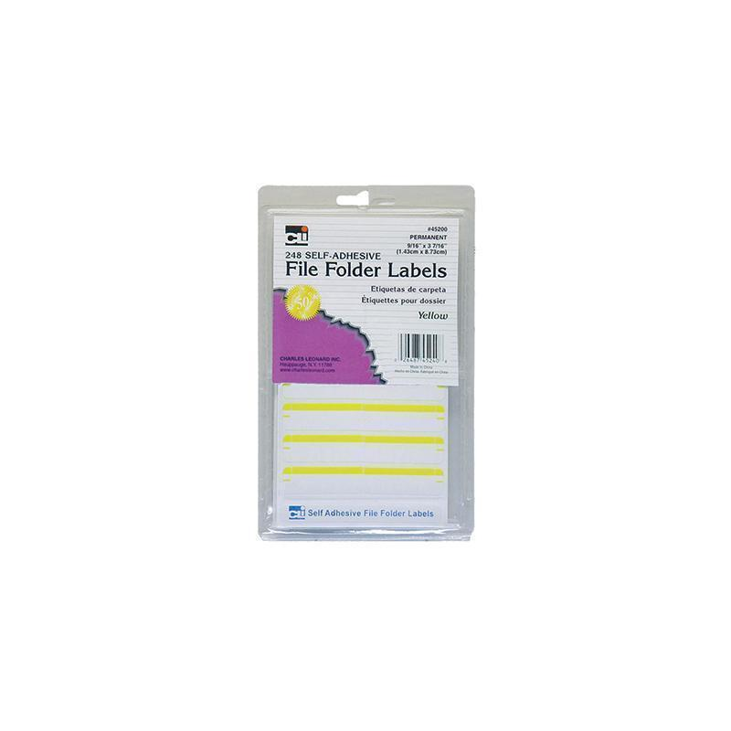FILE FOLDER LABELS YELLOW-Supplies-JadeMoghul Inc.