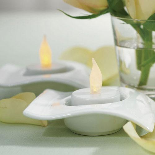 Flameless Battery Operated Tealights (Pack of 6)-Wedding Reception Decorations-JadeMoghul Inc.