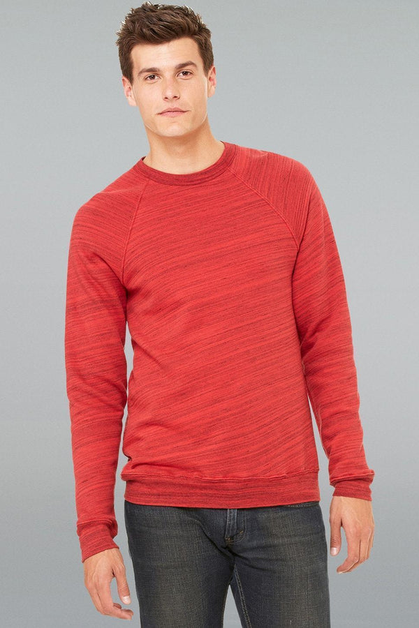Fleece Sweatshirt - Men-Men Long Sleeve Tops-XS-Red Marble Fleece-JadeMoghul Inc.