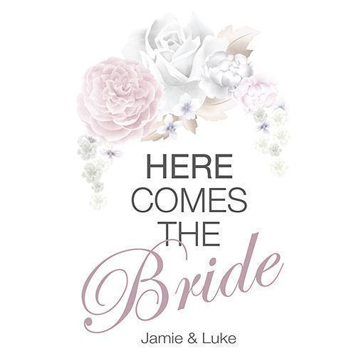 Floral Dreams Down The Aisle Signage Classic (Pack of 1)-Wedding Signs-Lavender-JadeMoghul Inc.