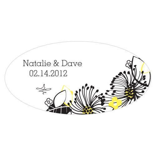 Floral Fusion Small Cling Harvest Gold (Pack of 1)-Wedding Signs-Lemon Yellow-JadeMoghul Inc.