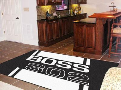 FORD Sports - Boss 302 5'x8' Plush Rug - Black-5x8 Rug-JadeMoghul Inc.