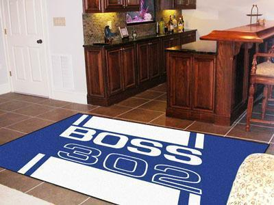 FORD Sports - Boss 302 5'x8' Plush Rug - Blue-5x8 Rug-JadeMoghul Inc.