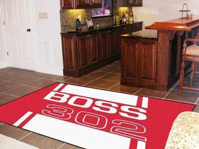 FORD Sports - Boss 302 5'x8' Plush Rug - Red-5x8 Rug-JadeMoghul Inc.