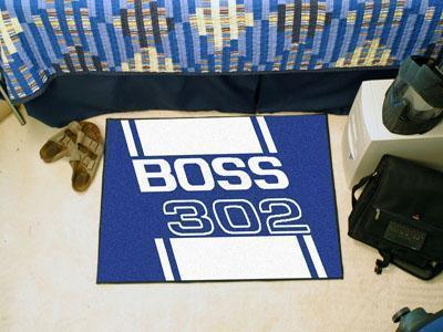 "FORD Sports - Boss 302 Starter Rug 19""x30"" - Blue-Starter Mat-JadeMoghul Inc."