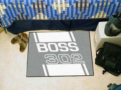 "FORD Sports - Boss 302 Starter Rug 19""x30"" - Gray-Starter Mat-JadeMoghul Inc."