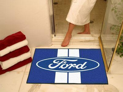 "FORD Sports - Ford Oval with Stripes All-Star Mat 33.75""x42.5"" - Blue-All Star Mat-JadeMoghul Inc."
