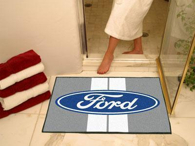 "FORD Sports - Ford Oval with Stripes All-Star Mat 33.75""x42.5"" - Gray-All Star Mat-JadeMoghul Inc."