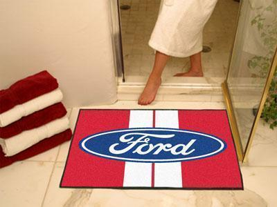 "FORD Sports - Ford Oval with Stripes All-Star Mat 33.75""x42.5"" - Red-All Star Mat-JadeMoghul Inc."