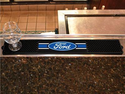 "FORD Sports - Ford Oval with Stripes Drink Tailgate Mat 3.25""x24""-Drink Mat-JadeMoghul Inc."