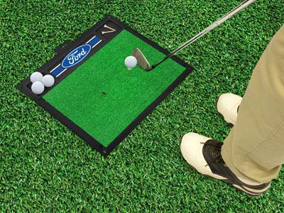 "FORD Sports - Ford Oval with Stripes Golf Hitting Mat 20""x17""-Golf Hitting Mat-JadeMoghul Inc."