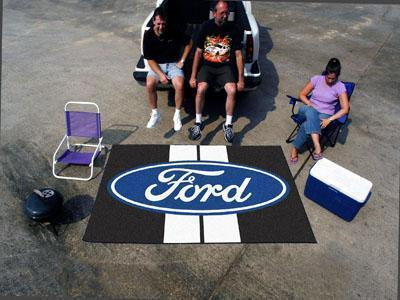FORD Sports - Ford Oval with Stripes Ulti-Mat 5'x8' - Black-Ulti-mat-JadeMoghul Inc.