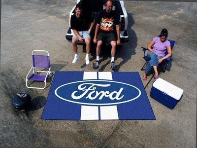 FORD Sports - Ford Oval with Stripes Ulti-Mat 5'x8' - Blue-Ulti-mat-JadeMoghul Inc.