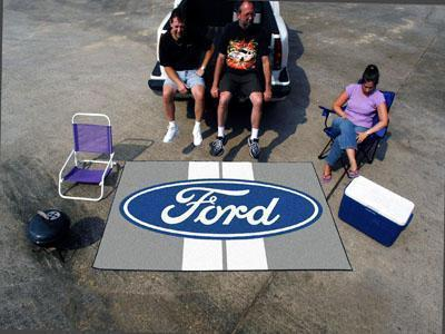 FORD Sports - Ford Oval with Stripes Ulti-Mat 5'x8' - Gray-Ulti-mat-JadeMoghul Inc.