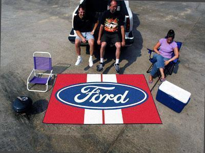 FORD Sports - Ford Oval with Stripes Ulti-Mat 5'x8' - Red-Ulti-mat-JadeMoghul Inc.