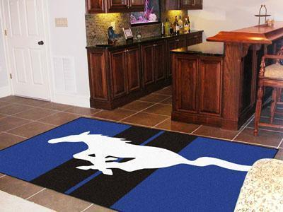FORD Sports - Mustang Horse 5'x8' Plush Rug - Blue-5x8 Rug-JadeMoghul Inc.