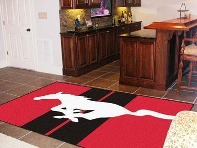 FORD Sports - Mustang Horse 5'x8' Plush Rug - Red-5x8 Rug-JadeMoghul Inc.