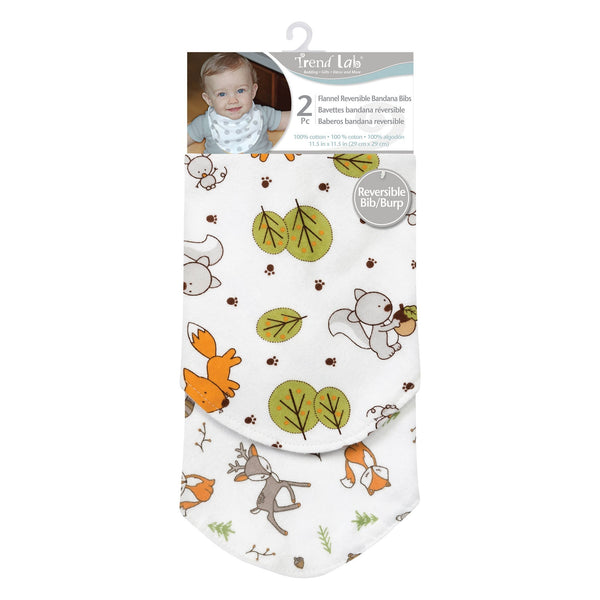 Forest Bunch 2 Pack Reversible Flannel Bandana Bib Set-WHIM-B-JadeMoghul Inc.
