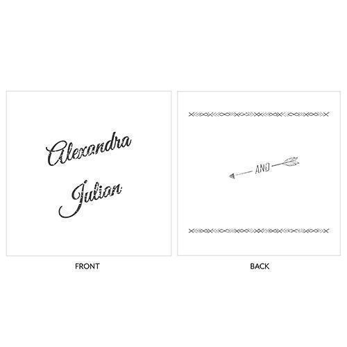 Free Spirit Personalized Clear Acrylic Block Cake Topper (Pack of 1)-Wedding Cake Toppers-JadeMoghul Inc.