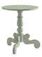 Freida End Table, Antique Green-Side Tables and End Tables-Antiqued Green-MDF Solid Wood Leg-JadeMoghul Inc.