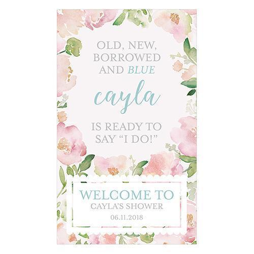 Garden Party Personalized Welcome Sign for Rustic Wood Frame (Pack of 1)-Wedding Signs-JadeMoghul Inc.