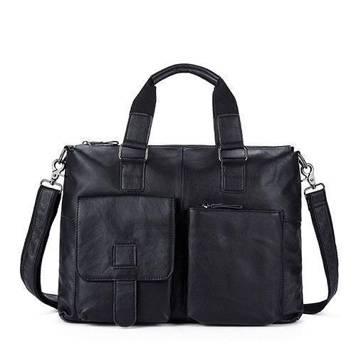 Genuine Leather Men Briefcases / Computer Laptop Business Bag-260black-China-JadeMoghul Inc.