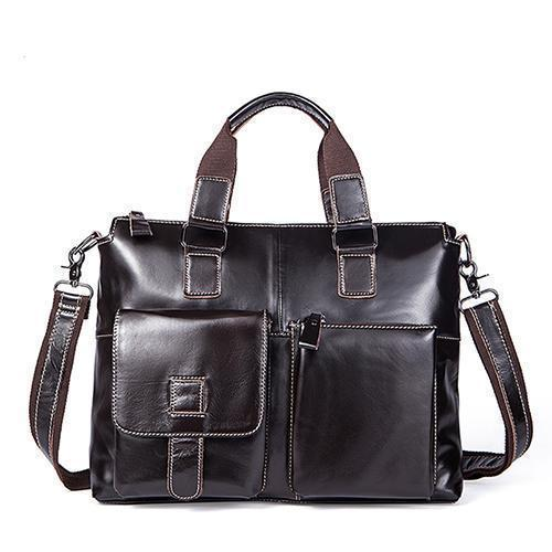 Genuine Leather Men Briefcases / Computer Laptop Business Bag-260Fcoffeeliangpi-China-JadeMoghul Inc.