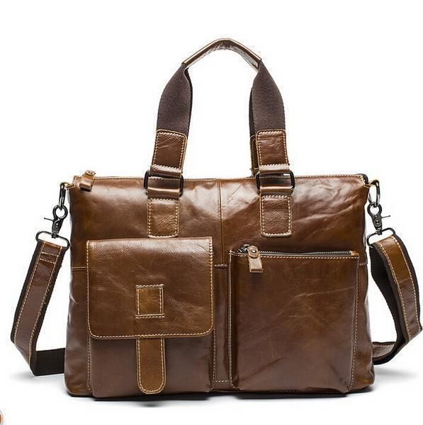Genuine Leather Men Briefcases / Computer Laptop Business Bag-260red brown-China-JadeMoghul Inc.