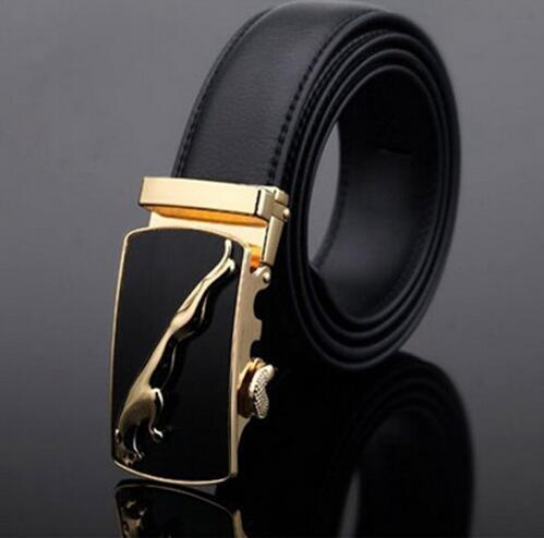 Genuine Luxury Leather Men Belt / Metal Automatic Buckle-A-110cm-JadeMoghul Inc.