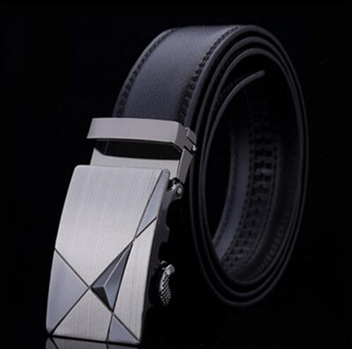 Genuine Luxury Leather Men Belt / Metal Automatic Buckle-B-110cm-JadeMoghul Inc.
