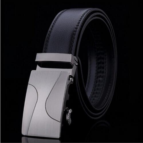 Genuine Luxury Leather Men Belt / Metal Automatic Buckle-C-110cm-JadeMoghul Inc.