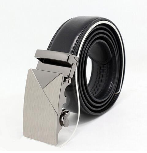 Genuine Luxury Leather Men Belt / Metal Automatic Buckle-H-110cm-JadeMoghul Inc.