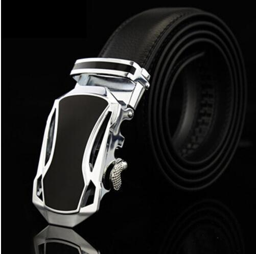 Genuine Luxury Leather Men Belt / Metal Automatic Buckle-W-110cm-JadeMoghul Inc.